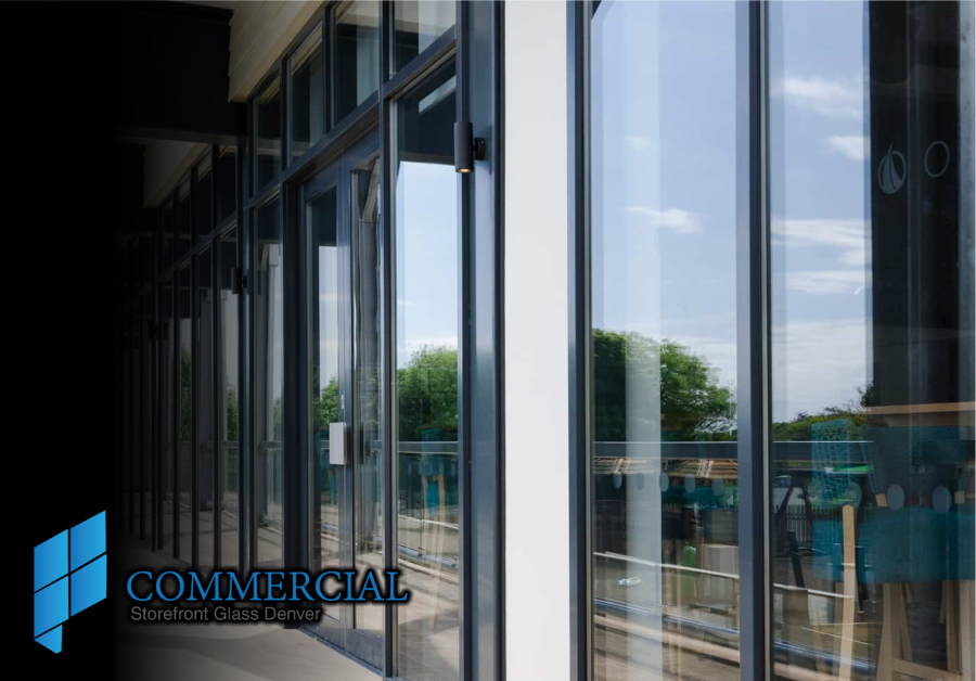 Doors Windows Commercial Glass storefront replacement Install denver co