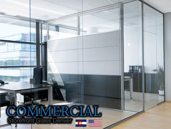 commercial glass denver window door install repair 89