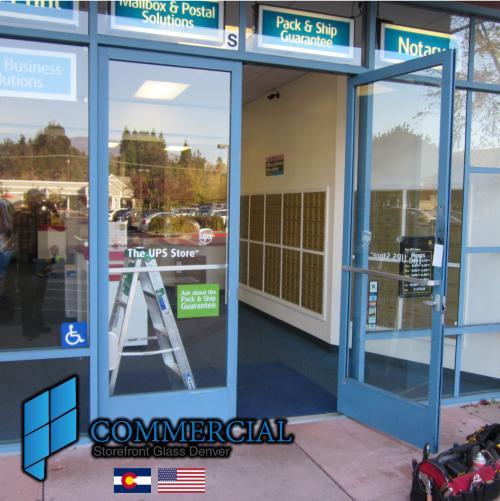 commercial storefront glass denver window door replacement 79
